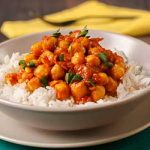 Roasted Vegetable and Chick Pea Curry with Jasmine Rice